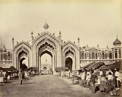 Lucknow. Gateway of the Hoosainabad Bazaar.